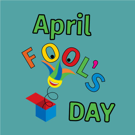 April fool s day concept, Typography colorful banner, flyer or card design. Stock Illustratie