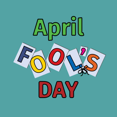 April fool s day concept, cartoon typography colorful banner, flyer or card design. Иллюстрация