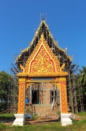 formatting: architecture Thai style in temple