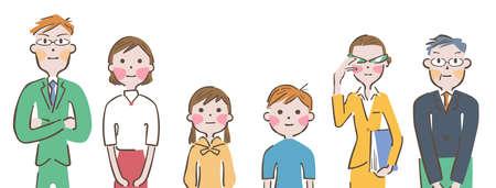 Elementary School Parents Teacher Illustration
