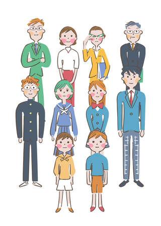 Student Parents Teacher Illustration