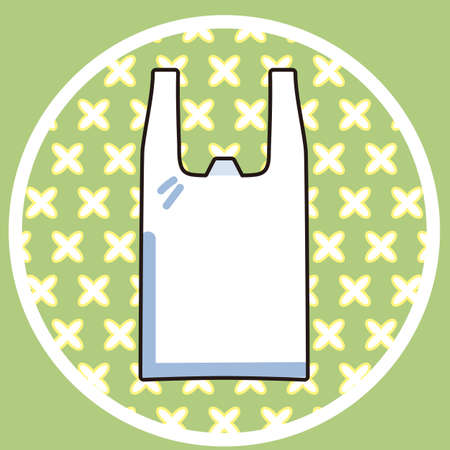 Shopping bag card illustration
