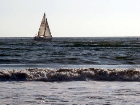 Sailboat on Water Imagens