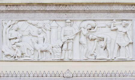 bas relief: Bas relief au monument de la D�mocratie de Bangkok, Tha�lande