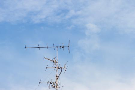 tv antenna: TV Antenna against the sky