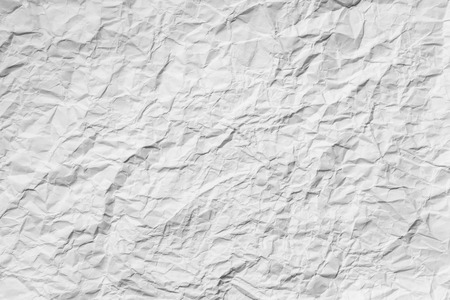 scrunch: White creased paper background texture Stock Photo