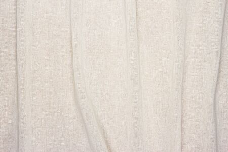 cream color: crumpled white cream color Fabric texture background