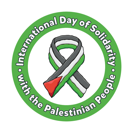 Circle Ribbon International Day of Solidarity with the Palestinian People