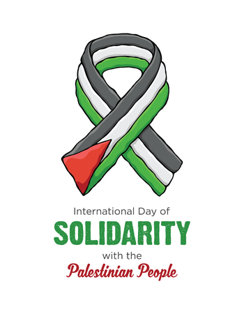 Ribbon International Day of Solidarity with the Palestinian People Illustration