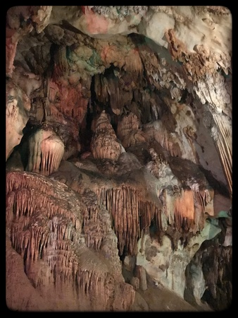 Stone of stalactites in Chiang Dao cave Фото со стока