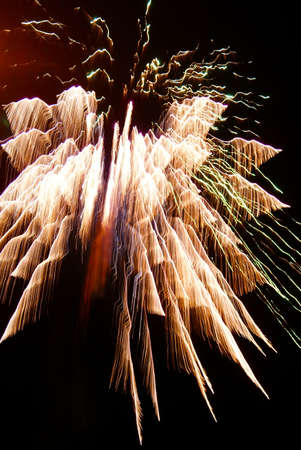 fire works: fire works on new years eve Stock Photo