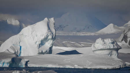 Antarctic iceberg in the snow Stock Photo