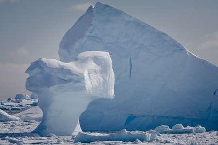 Antarctic iceberg in the snow Stock Photo - 7852507