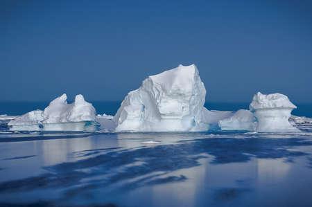 Antarctic iceberg in the snow photo