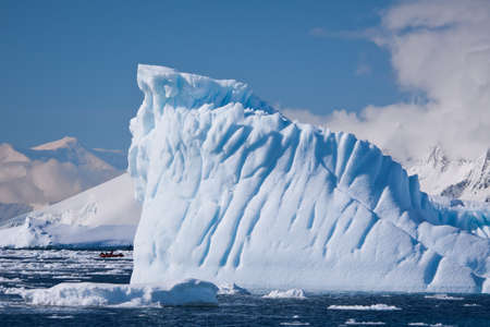 Antarctic iceberg in the snow Stock Photo - 7942234