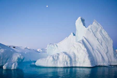 glacier: Antarctic iceberg in the snow Stock Photo