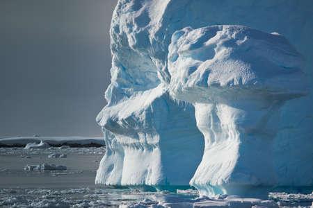 Antarctic iceberg in the snow Stock Photo - 7942291