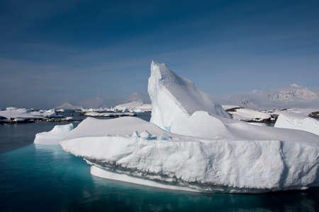 Antarctic iceberg in the snow Stock Photo - 7942275
