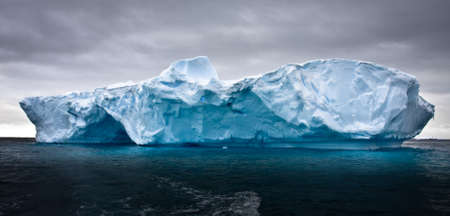 polar environment: Antarctic iceberg in the snow Stock Photo