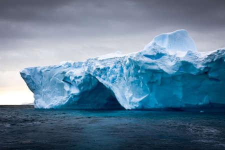 big scenery: Antarctic iceberg in the snow Stock Photo