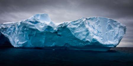 Antarctic iceberg in the snow Stock Photo