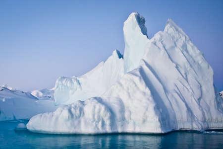iceberg: Antarctic iceberg in the snow Stock Photo