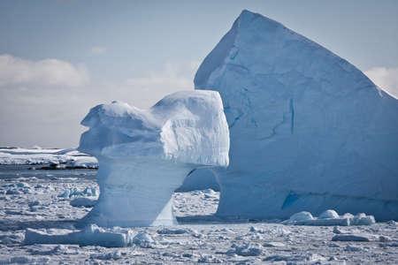 Antarctic iceberg in the snow Stock Photo - 8312040