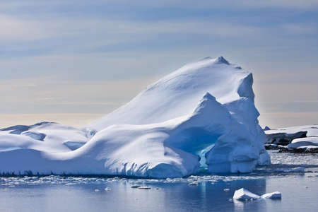 Antarctic iceberg in the snow Stock Photo - 8312037
