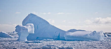 Antarctic iceberg in the snow Stock Photo - 8472208