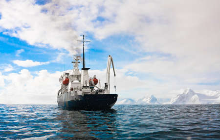 antarctic: Big ship in Antarctic waters