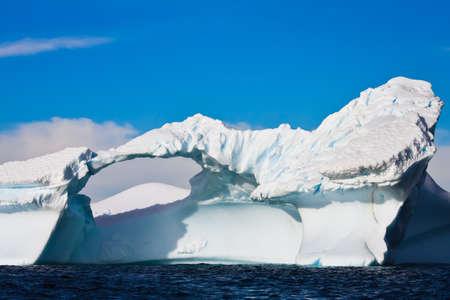 Antarctic Glacier with icicles photo