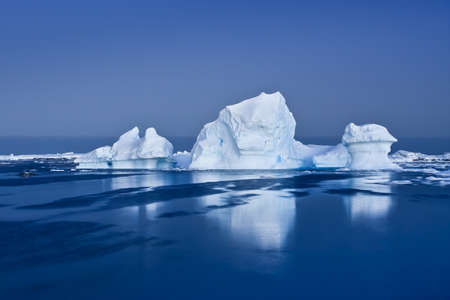 Antarctic Glacier in the snow photo