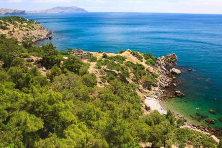 Beautiful coastal landscape in Crimea photo