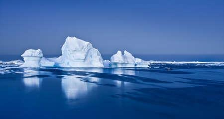 Antarctic Glacier in the snow Stock Photo