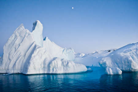 north: Antarctic iceberg in the snow Stock Photo