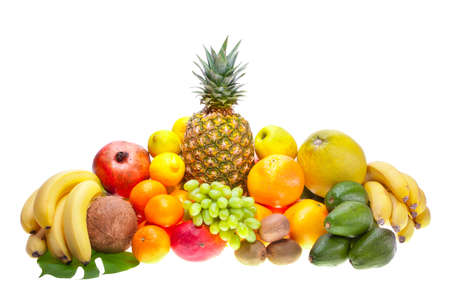 Assortment of fresh fruits photo