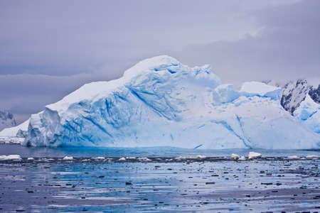 north pole: Antarctic iceberg in the snow Stock Photo