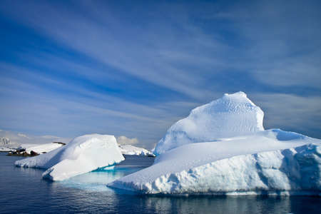 Antarctic iceberg in the snow photo