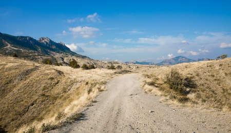 Desert trail in Crimea