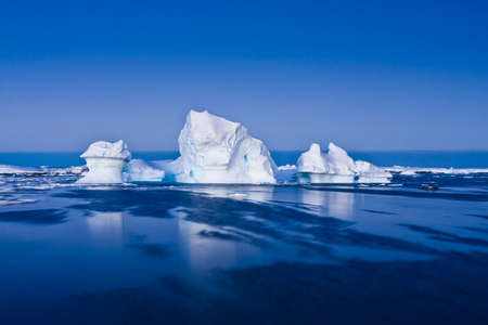 global warming: Antarctic iceberg in the snow Stock Photo