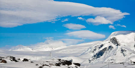 Beautiful snow-capped mountains. Beautiful winter background. Stock Photo - 11156131
