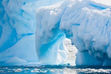 north pole: Antarctic glacier in the snow. Beautiful winter background