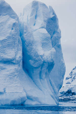 Antarctic glacier in the snow. Beautiful winter background photo
