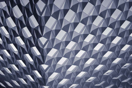 abstract background with metallic blue rhombs Stock Photo