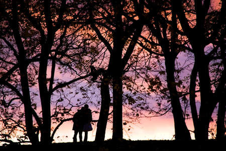 Young people silhouette photos about landscape outdoor photo