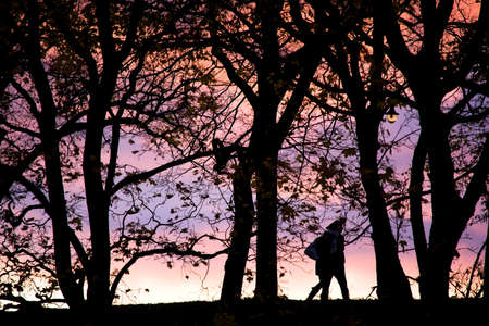 Young people silhouette photos about landscape outdoor