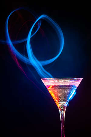 colourful coctail on the black background Stock Photo - 14813395
