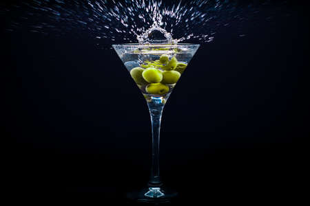 colourful coctail on the black background Stock Photo - 15094390