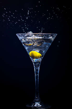 colourful coctail on the black background Stock Photo - 15094987