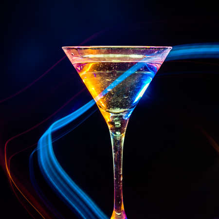 colourful coctail on the black background Stock Photo - 15094965
